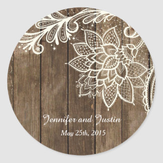 20 - 1.5 Inch Envelope Seal Rustic Lace Wood