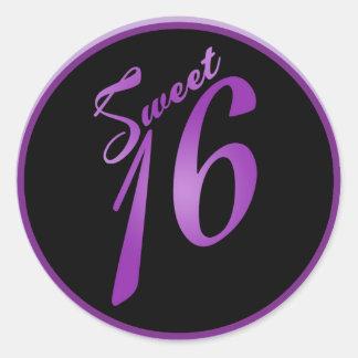 "20 - 1,5"" lila de la púrpura del dulce 16 de los etiquetas redondas"