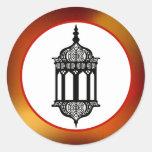 """20 - 1,5"""" linterna del marroquí del sello del pegatina redonda"""