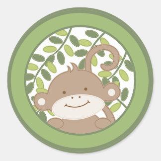 "20 - 1,5"" mono de la selva del safari del salto pegatina redonda"
