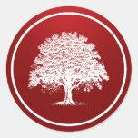 """20 - 1,5"""" negro rojo del árbol blanco del pegatina"""
