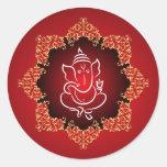 """20 - 1,5"""" señor Ganesha/rojo hindú del pegatina"""