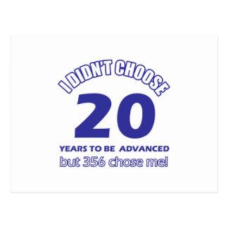 20 años de adelanto tarjetas postales