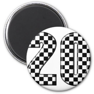 20 auto racing number magnet