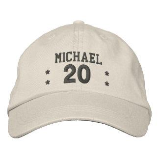 20 Birthday Custom Name STONE CHARCOAL V58 Cap