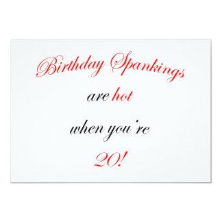 20 Birthday Spankings Card