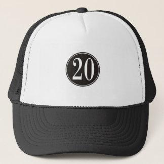 #20 Black Circle (front) Trucker Hat