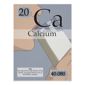 20. Calcium (Ca) Periodic Table of the Elements Poster