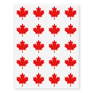 20 Canada Established 1867 Anniversary 150 Years Temporary Tattoos