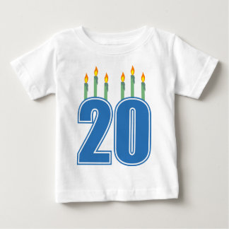 20 Candles (Blue / Green) Baby T-Shirt