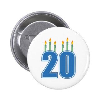 20 Candles (Blue / Green) Buttons