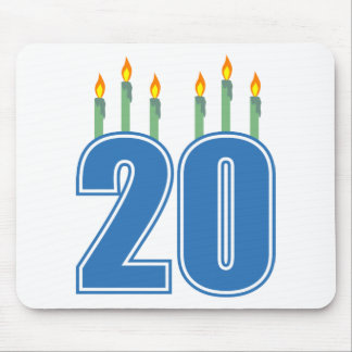 20 Candles (Blue / Green) Mouse Pad