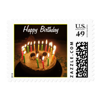 20 Candles on a Birthday Cake Postage