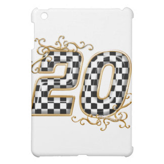 20 checkers flag number gold iPad mini case