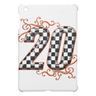 20 checkers flag number orange iPad mini cases