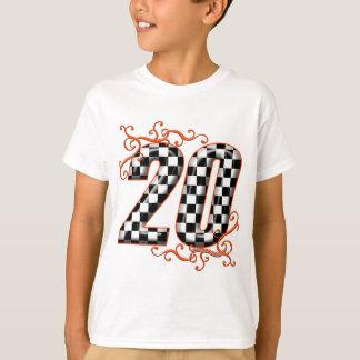 20 checkers flag number orange T-Shirt