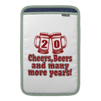 20 Cheers Beers Birthday Designs MacBook Air Sleeves
