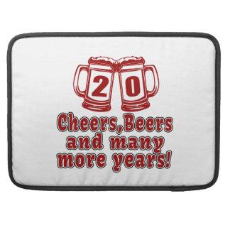 20 Cheers Beers Birthday Designs MacBook Pro Sleeves