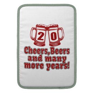 20 Cheers Beers Birthday Designs MacBook Sleeve