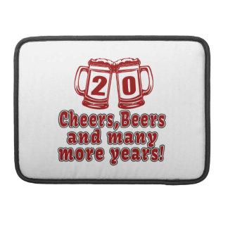 20 Cheers Beers Birthday Designs Sleeve For MacBooks
