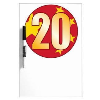 20 CHINA Gold Dry-Erase Board