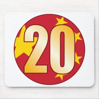20 CHINA Gold Mouse Pad