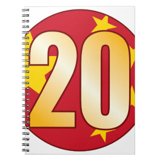 20 CHINA Gold Spiral Notebook