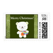 20 Christmas Christmas Polar Bear Postage Stamps