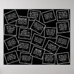 20 citas del voleibol en blanco y negro posters