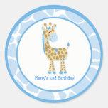 20 Customizable Cupcake Toppers Jungle Giraffe Classic Round Sticker
