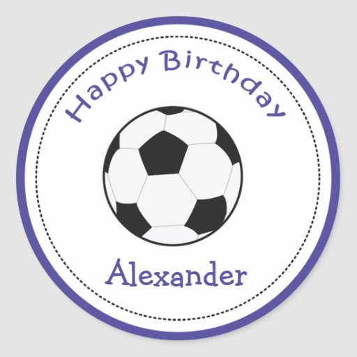 20 Customizable Cupcake Toppers Soccer Ball Sports Classic Round Sticker