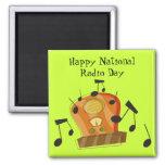 20 de agosto, día de radio nacional iman de nevera