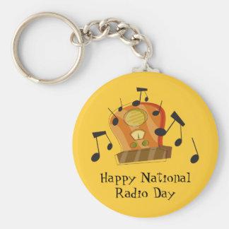 20 de agosto, día de radio nacional llavero redondo tipo pin