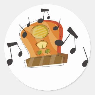 20 de agosto día de radio nacional pegatinas redondas
