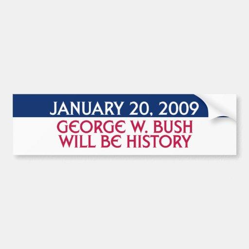 20 de enero de 2009 - George W. Bush será historia Pegatina Para Auto