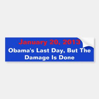 20 de enero de 2013, el día pasado de Obama, pero  Pegatina Para Auto