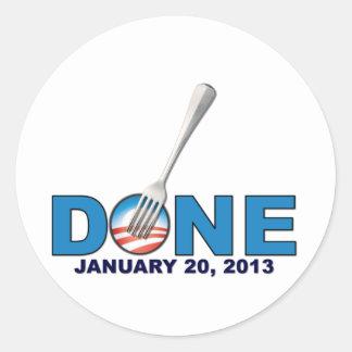 - 20 de enero de 2013 - Obama anti hecho Pegatina Redonda