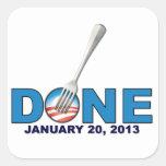 - 20 de enero de 2013 - Obama anti hecho Pegatina Cuadrada
