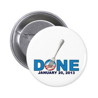- 20 de enero de 2013 - Obama anti hecho Pin Redondo De 2 Pulgadas