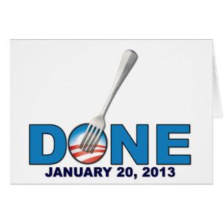 - 20 de enero de 2013 - Obama anti hecho Tarjeta De Felicitación