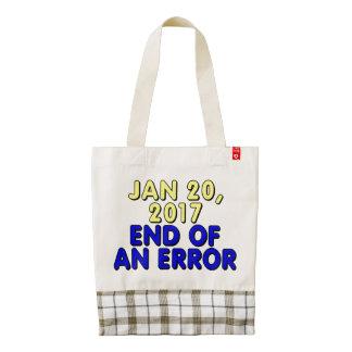 20 de enero de 2017: Final de un error Bolsa Tote Zazzle HEART