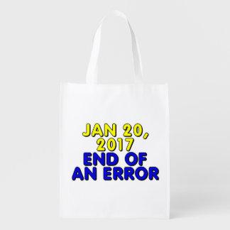 20 de enero de 2017: Final de un error Bolsas Para La Compra