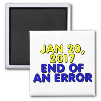 20 de enero de 2017: Final de un error Imán Cuadrado