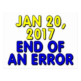 20 de enero de 2017: Final de un error Tarjetas Postales