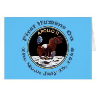 20 de julio de 1969 camisetas del paseo de la luna tarjeta de felicitación