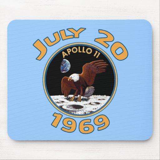 20 de julio de 1969 misión de Apolo 11 en la luna Alfombrilla De Ratón