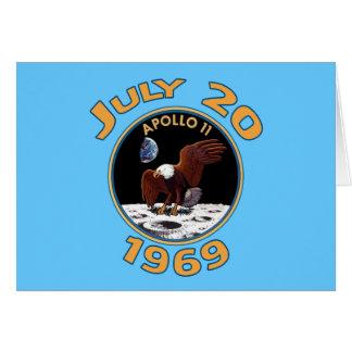 20 de julio de 1969 misión de Apolo 11 en la luna Tarjeta De Felicitación