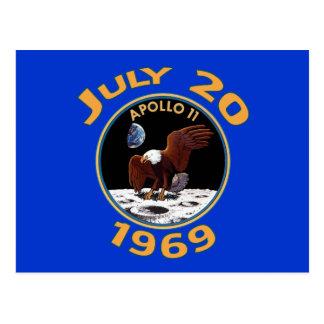 20 de julio de 1969 misión de Apolo 11 en la luna Tarjetas Postales