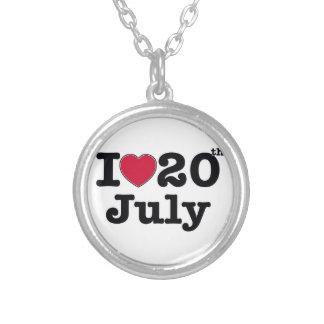 20 de julio mi día de cumpleaños colgante redondo