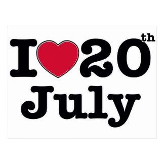 20 de julio mi día de cumpleaños tarjeta postal